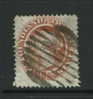 Newfoundland SC# 28 Used / Hinge Rem / Small Left Top Tear - S2773