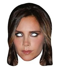 Victoria Beckham Celebrity Single 2D Card Face Mask -Posh Fashion Designer Spice