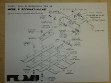 VINTAGE BRINLY GARD-N-CART #LL-250 SPEC SHEET for WHEEL HORSE TRACTORS