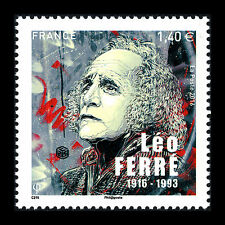 France 2016 - 100th Anniv of the Birth of Leo Ferre Poet Composser - Sc 5091 MNH
