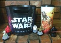 Star Wars Rise of Skywalker Movie Theater Exclusive Cup w lid 5 Toppers Bucket
