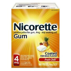 Nicorette Gum 4MG Ct160 Fruit Chill NEW SEALED EX11/2023