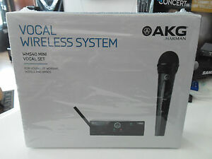AKG WMS40 MINI WIRELESS RADIOMICROFONO handheld PROFESSIONALE,NUOVO