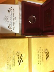 2007-W Proof $10 Dolley Madison First Spouse BOX, OGP & COA (X-04) NO Coins