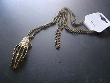 Skeletal hand and chain