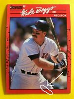 1990 Only NO Dot INC Period WADE BOGGS Donruss w/2 ERRORS MINT Baseball Card #68