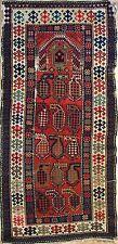 Collectible Caucasian - 1910s Antique Karabagh Rug - Prayer Design 2.9 x 5.8 ft.