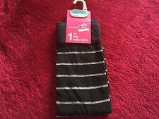 14 X Girls Ladies cotton rich Black / Striped Winter Leg Warmers, One size BNWT