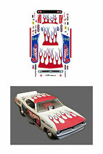 Don the Snake Prudhomme Hotwheels Cuda decal 1/64 scale AFX Tyco Autoworld