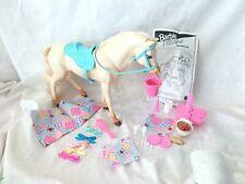 Vintage 1990s BARBIE Doll HORSE Pony NIBBLES Picnic Feeding Play Set #14879 Box