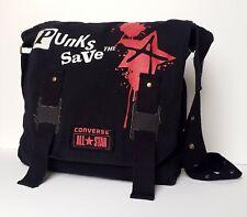 Converse All Star Black Messenger Shoulder Bag With