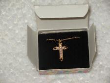 Avon Kids Cross necklace faux  pearls