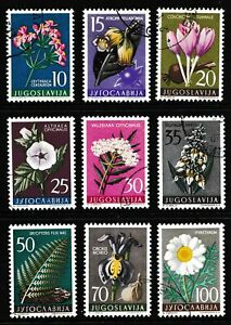 Yugoslavia 1957 Flowers - Used Set - Cat £12 - (19)
