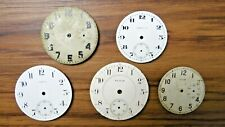 5 Vtg Pocket Watch Face Elgin Lafayette Crown Mixed Parts Or Repair As Is