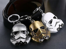 Star Wars Storm Trooper Helmet Mask Pendant Metal Key Chain Keyring Random