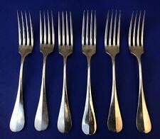 Antique Christofle Dinner Forks Baguette Fidelio Set of 6