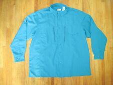 Big & Tall Men's Branson Bay Lake Blue Long Sleeve Fishing Shirt Size XXL New