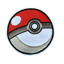 1 Écusson Brodé Thermocollant NEUF ( Patch ) - Pokémon Poké Ball Pokéball (Ref2)