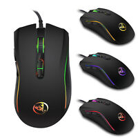 New 4-Speed Adjustable DPI Levels Colorful LED Gaming Mouse USB Wired Mice Gamer