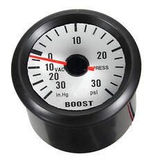 "Black Shell 2"" 52mm Car Universal LED Boost PSI Vacuum Gauge Meter HY"
