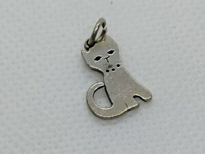 RETIRED James Avery Sterling Silver Flat Cat Charm FREE SHIPPING