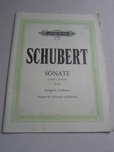 Schubert Sonate Ausgabe für Violoncello und Klavier Notenheft Noten