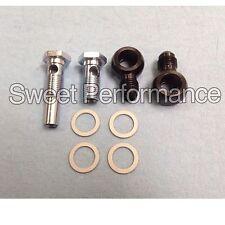 -6AN x 9/16-18 4L80E GM transmission oil cooler 90 degree Banjo fittings USA