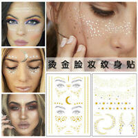 Disposable Tattoo Gold Face Freckle Stickers Shine Glitter Waterproof Body Art