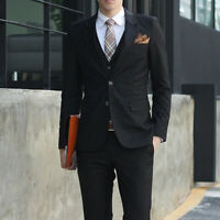 Mens New Casual Stylish Slim Fit Two Button Suit Formal Coat Jacket Blazers