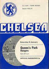 Chelsea v QPR - FA Cup - 1974 - Football Programme