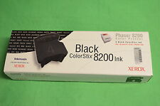 Xerox ColorStix Phaser 8200 Black 016-2040-00 Qty 5 Genuine Original Solid Ink