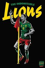 FIFA World Cup Soccer Event Brazil | TEAM CAMEROON Poster | 13 x 19 inches