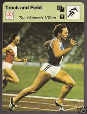 THE WOMEN'S 100m Renate Stecher PhotoTrack & Field 1979 SPORTSCASTER CARD 53-21A