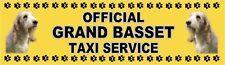 GRAND BASSET GRIFFON VENDEEN OFFICIAL TAXI SERVICE Dog Car Sticker  By Starprint