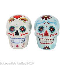 Day Of The Dead Skull Salt Pepper Shaker  Dia De Los Muertos Salero DOD Mexico