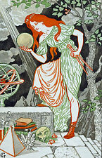 Scientist Woman Art Nouveau Grasset Painting 8x10 Real Canvas Giclee Art Print