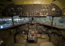 8x11+  Vintage Photo The Cockpit of the C-47A Skytrain, Turf and Sport Special