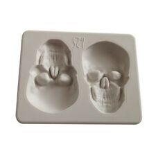 Two Skull Silicone Cake Mold Fondant Mould Decor DIY Baking Halloween