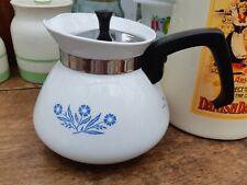 Vintage Pyrosil Cornflower 6 Cup Stove Top Coffee Pot