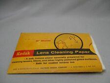 Kodak Lens Cleaning paper PAPIER DE NETTOYAGE