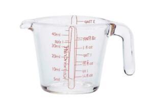 1xKitchenCraft Glass Mini Measuring Jug 50ml Teaspoon Shots fl oz Tablespoon New