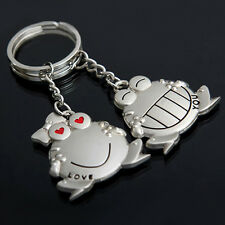 Love You' Happy Frogs Couples Lovers Keyring Pair Keychains Best Friends Keyring