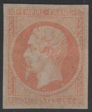 "FRANCE STAMP TIMBRE N° 16 "" NAPOLEON III 40c JAUNE- ORANGE 1853 "" NEUF x TB RARE"