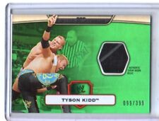 WWE Tyson Kidd 2010 Topps Platinum Green Event Used Shirt Relic Card SN 99 / 399