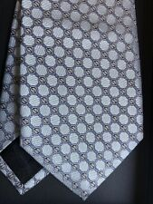 Gucci Men's Tie SOTH BLUE/Silver Woven Silk Neck Tie