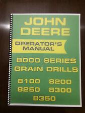 John Deere 8000 Series Grain Drill Operators Manual 8100 8200 8250 8300 8350