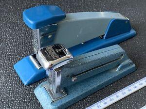 2x Retro Rexel Metal Stapler (Jaguar 567 & Viscount) Made In England 1960's
