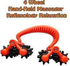 4 Wheels Reflexology HandHeld Full Body Massager Therapy, Relaxation Roller
