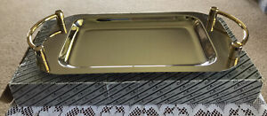 Queen Victoria Silver / Gold Plated Tray
