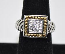 beautiful vintage style new two tone Color  fashion ring size :8  US-SELLER  #T9